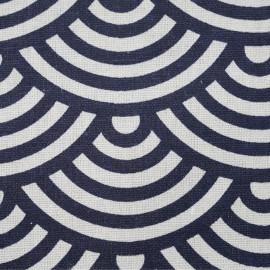 Tissu toile de coton motif japonais vagues seigaiha - tissus en ligne - pretty mercerie
