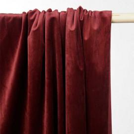 Tissu velours rumba red - tissus en ligne - pretty mercerie