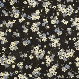 Tissu viscose raven à motif fleurs - tissus en ligne - pretty mercerie