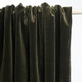 Tissu velours vert foncé à carreaux - tissus en ligne - pretty mercerie