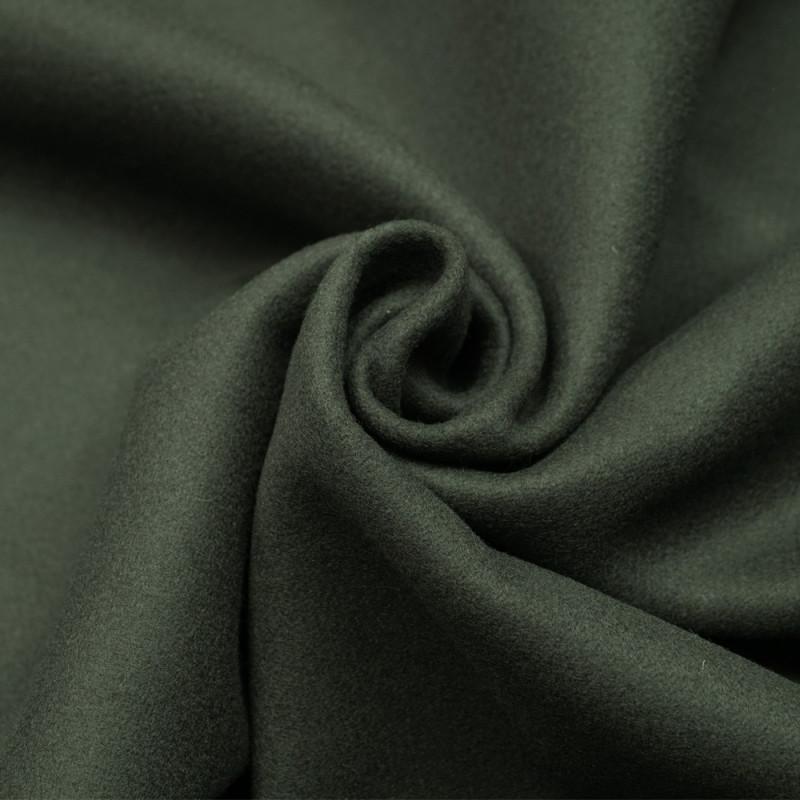 Tissu drap de laine vert cypress- tissus en ligne - pretty mercerie
