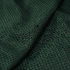Tissu lainage léger pied poule vert evergreen et noir- tissus en ligne - pretty mercerie