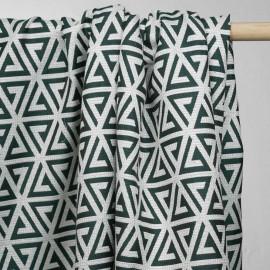 Tissu jacquard gatsby vert et lurex or - tissus en ligne - pretty mercerie