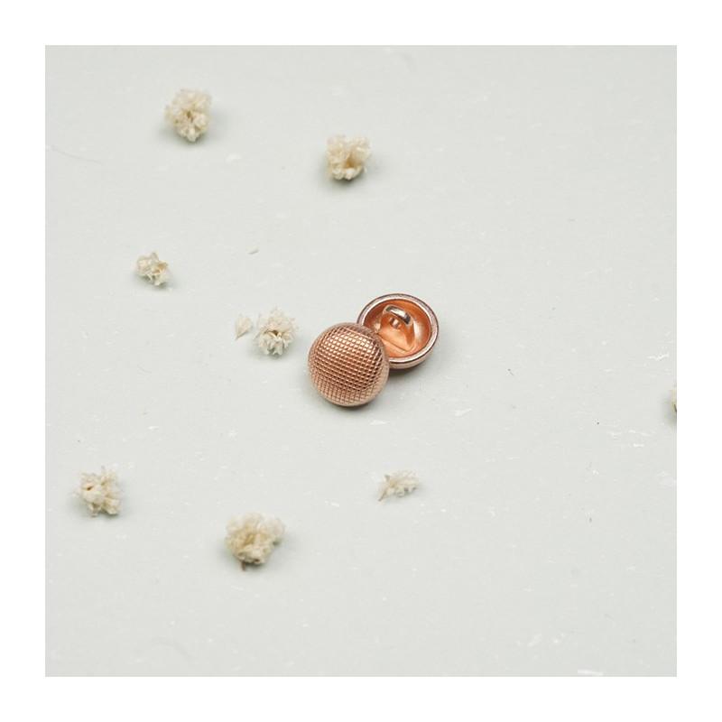 Bouton métal cuivre effet quadrillé - mercerie en ligne - pretty mercerie