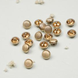 Bouton métal or effet quadrillé - mercerie en ligne - pretty mercerie