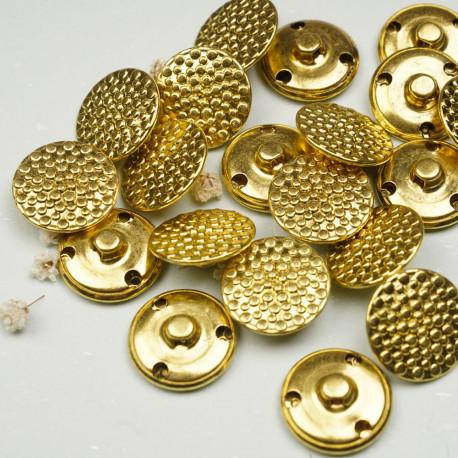 Bouton métal or motif petits ronds - mercerie en ligne - pretty mercerie
