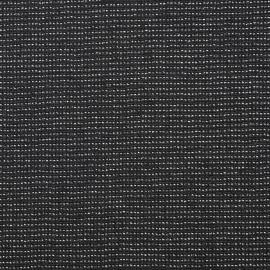 Tissu lainage léger noir et son fil lurex argent - tissus en ligne - pretty mercerie