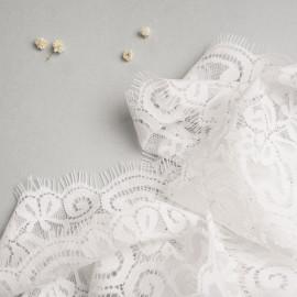 Ruban dentelle à franges motif fleurs entrelacées - mercerie en ligne - pretty mercerie