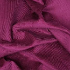 Tissu velours milleraies sangria x 10 cm