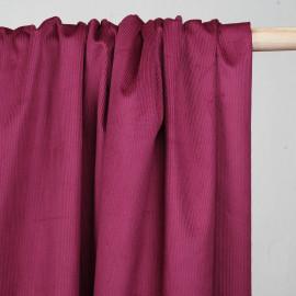 Tissu velours milleraies sangria - mercerie en ligne- pretty mercerie