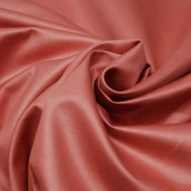 Tissu coton satiné corail épicé x 10cm