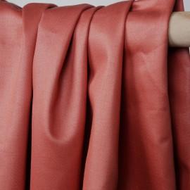 Tissu coton satiné corail épicé  - mercerie en ligne - pretty mercerie