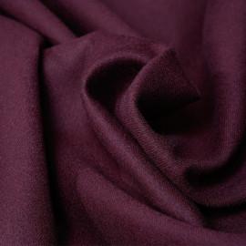 Tissu lainage sergé bordeaux - pretty mercer - mercerie en ligne