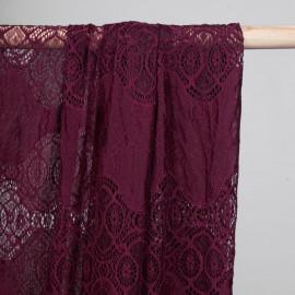 Tissu guipure beaujolais bandes pleines et ajourées - mercerie en ligne - pretty mercerie