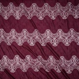 Tissu dentelle beaujolais bandes pleines et ajourées - mercerie en ligne - pretty mercerie