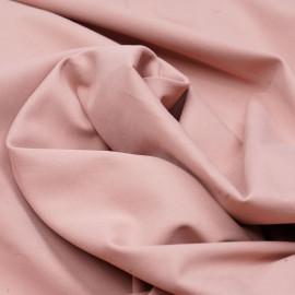 Tissu coton sergé rose tan x 10cm