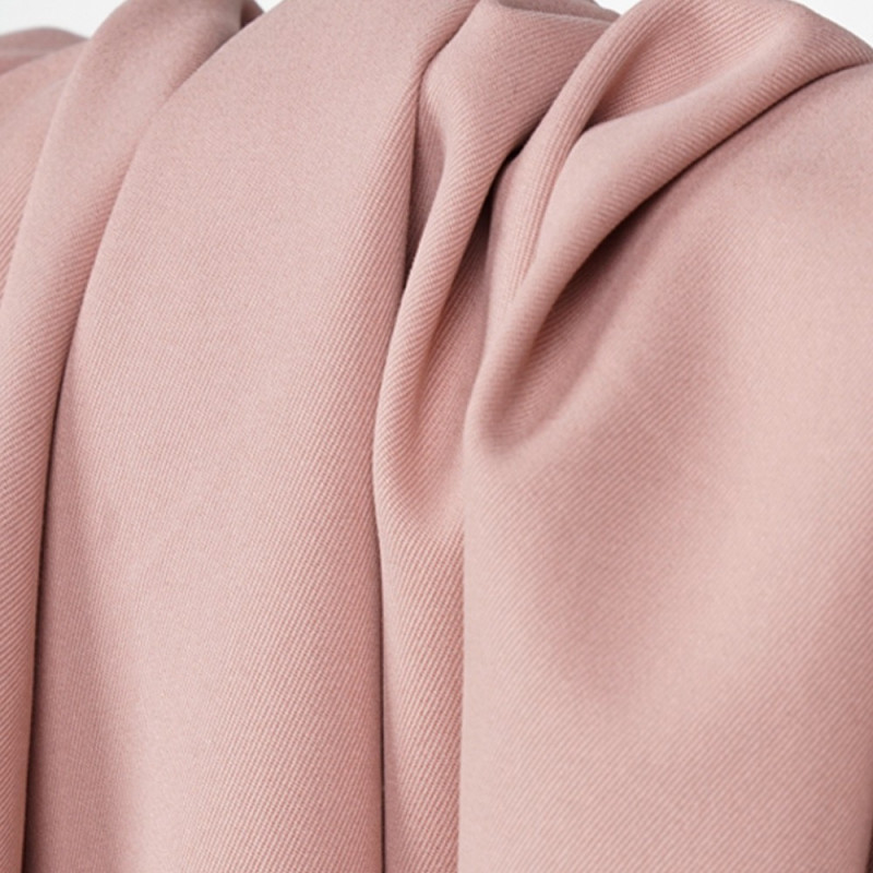 Tissu coton sergé rose tan - mercerie en ligne - pretty mercerie