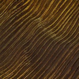 Tissu plissé or et noir x 10 cm