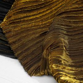Tissu plissé or et noir - pretty mercerie - mercerie en ligne