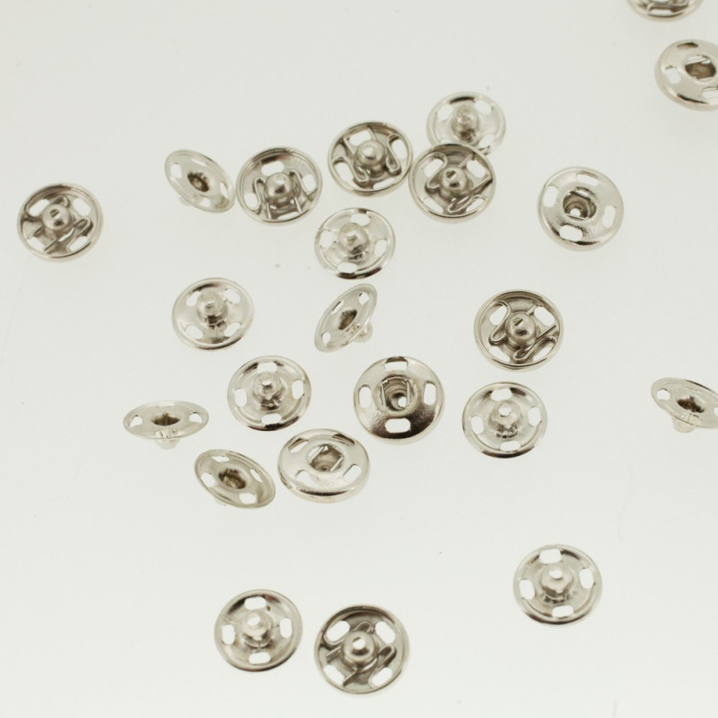Nickel-plated snap buttons 9 mm