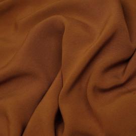 Tissu crêpe viscose cannelle x 10 cm