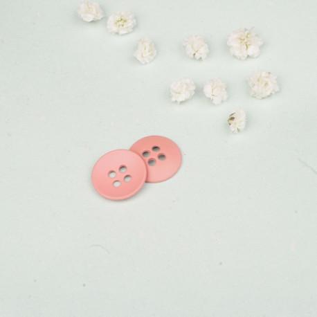 Bouton métal rond 4 trous rose 18 mm - mercerie en ligne - pretty mercerie