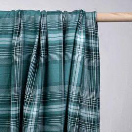 Tissu coton tartan stewart vert bayou - pretty mercerie - mercerie en ligne