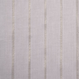 Tissu coton léger blanc à fines rayures dorées - pretty mercerie - mercerie en ligne