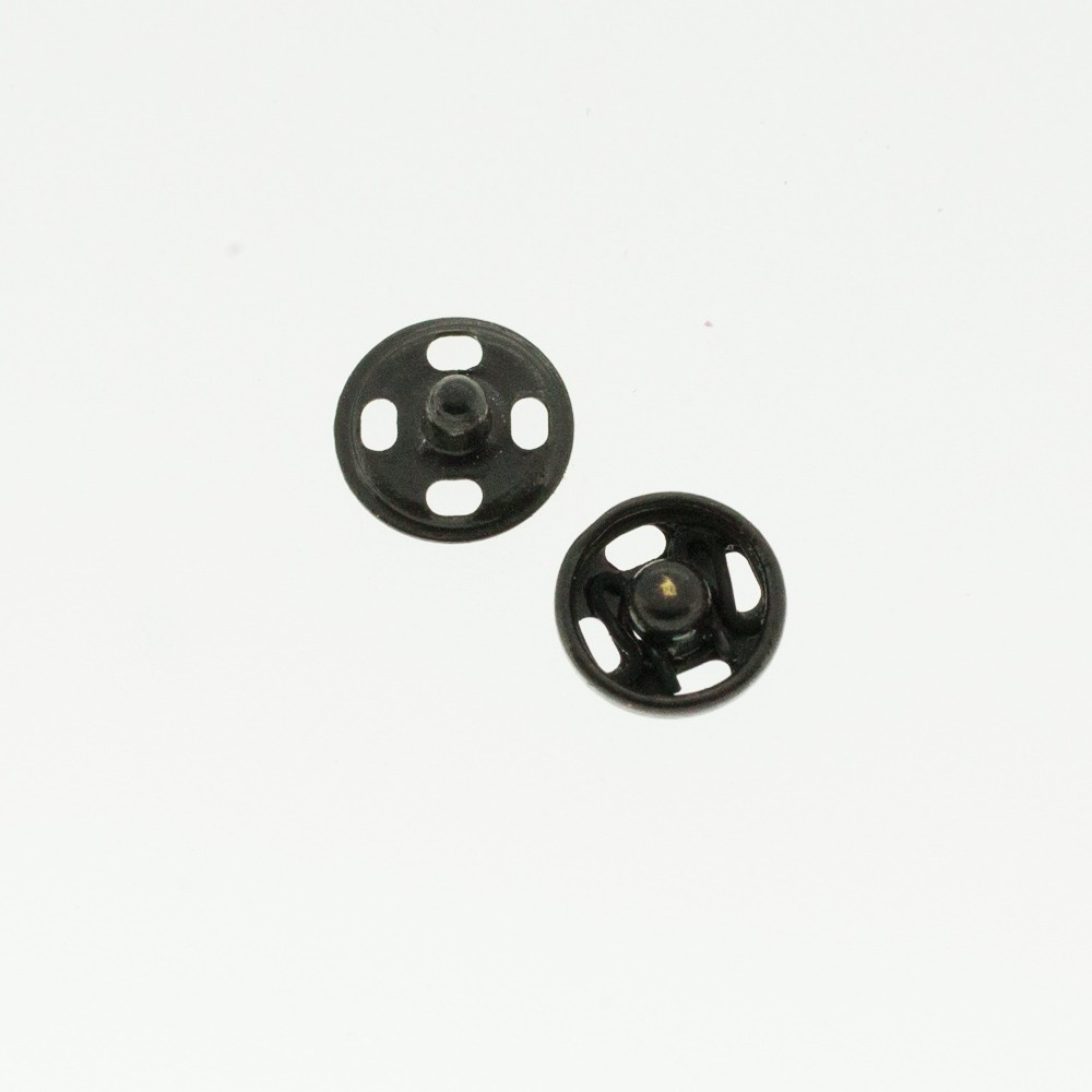 Boutons pressions noir 5 mm