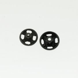 Boutons pressions noir 7 mm
