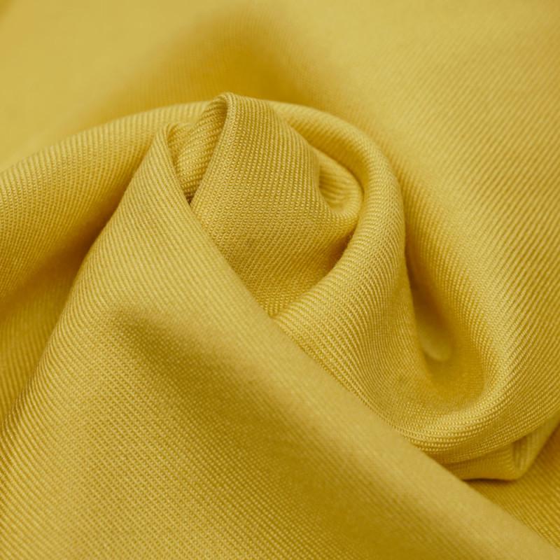 Tissu viscose sergé lemon - mercerie en ligne - pretty mercerie