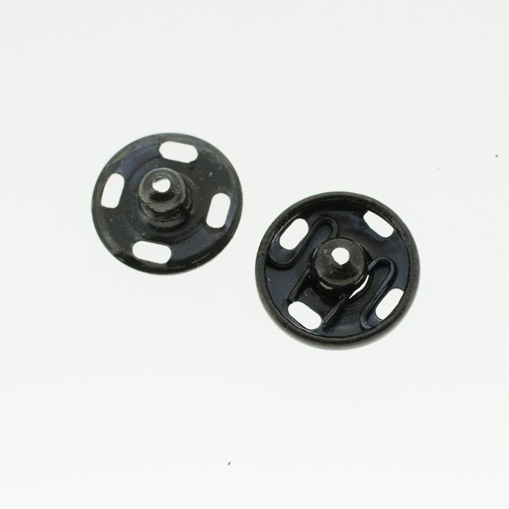 Boutons pressions noir 12 mm