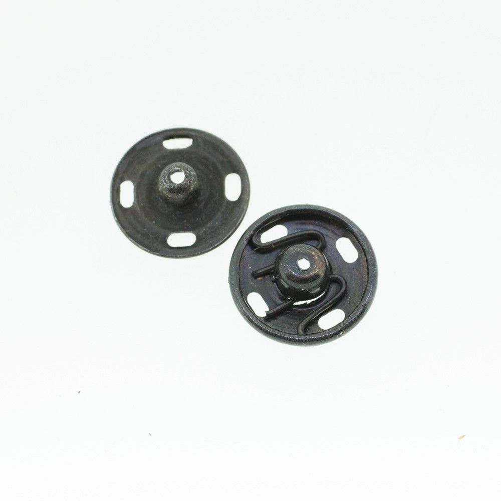 Boutons pressions noir 13 mm