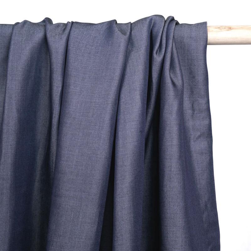 Blue gray denim tencel fabric - Pretty Mercerie - haberdashery online