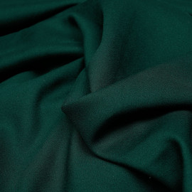 Tissu crêpe proviscose vert foncé  x 10 cm
