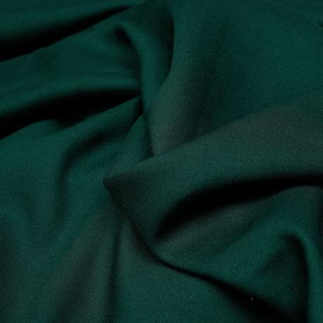 Tissu crêpe proviscose vert foncé  - mercerie en ligne - pretty mercerie
