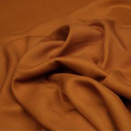 Tissu crêpe proviscose caramel x 10 cm