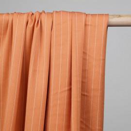 Tissu poly-modal sergé corail lignes tissées - pretty mercerie - mercerie en ligne