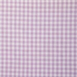 Tissu coton vichy mauve et blanc - pretty mercerie - mercerie en ligne