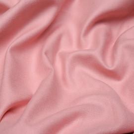Tissu coton sergé rose x 10cm