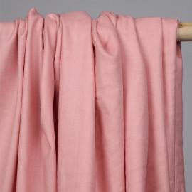 Tissu coton sergé rose - mercerie en ligne - pretty mercerie