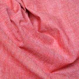 Tissu coton et lin rouge x 10cm