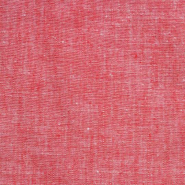 Tissu coton et lin rouge - pretty mercerie - mercerie en ligne