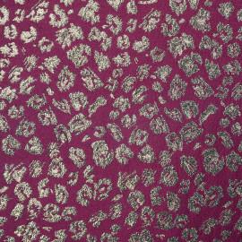 Tissu jacquard beaujolais motif léopard doré - pretty mercerie - mercerie en ligne