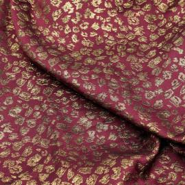 Tissu jacquard beaujolais motif léopard doré x 10 CM