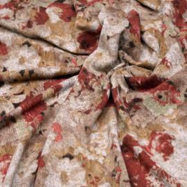 Tissu jersey bouquet fleuri x 10cm
