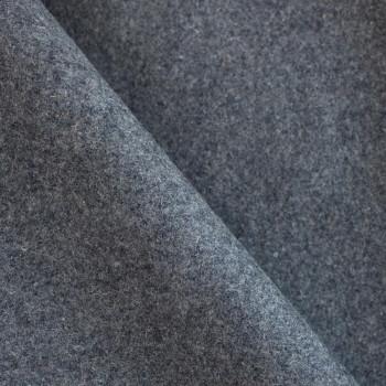 Drap de laine gris orage