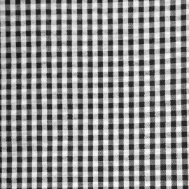 Tissu coton seersucker vichy noir et blanc - pretty mercerie - mercerie en ligne