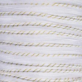 passepoil blanc rayé or et blanc - pretty mercerie - mercerie en ligne