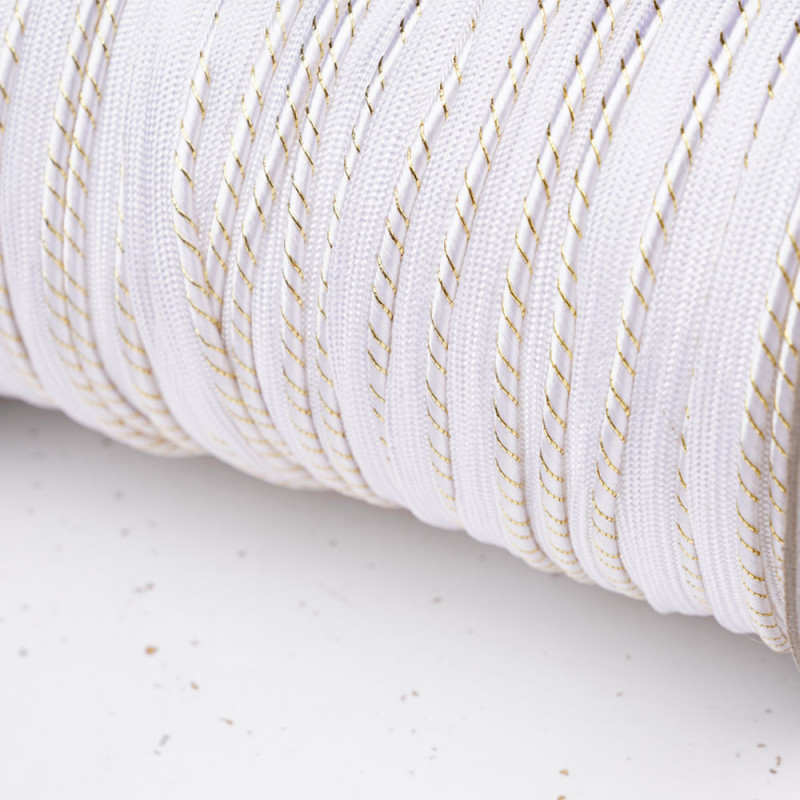gold and white striped piping - Pretty Mercerie - haberdashery online